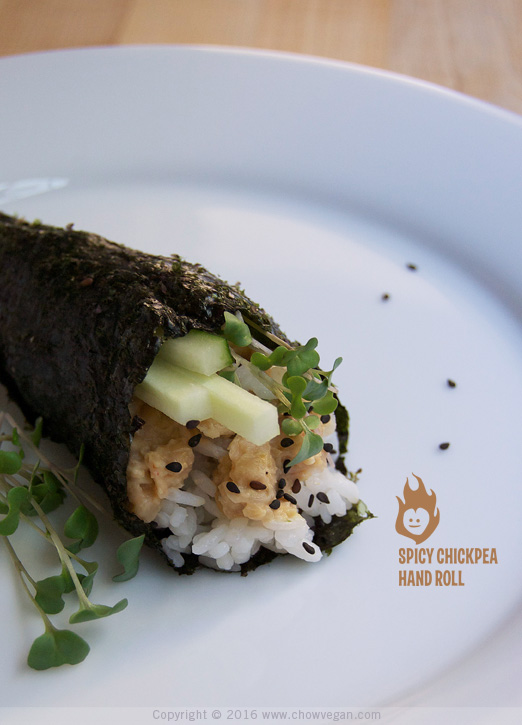 Spicy Chickpea Hand Roll
