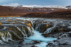 Blue on blue: Brúarfoss