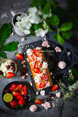 Strawberry and Cream Roulade