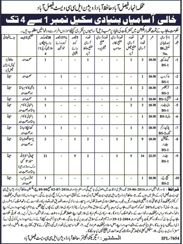 Goverment of Punjab Faisalabad Jobs