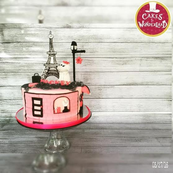 Paris Themed Cake by Diana Laxamana of The Cakes in Wonderland