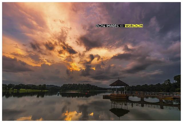 Sunset @ Lower Peirce Reservoir Park