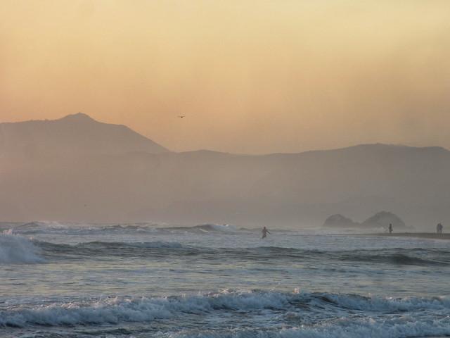 Sunset at Ocean Beach, San Francisco.  May 3, 2013