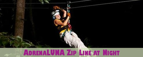 St. Lucia AdrenaLUNA Zip Line Tour at Night