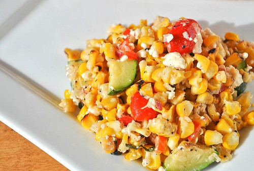 Summer Grilled Corn Salad with Feta