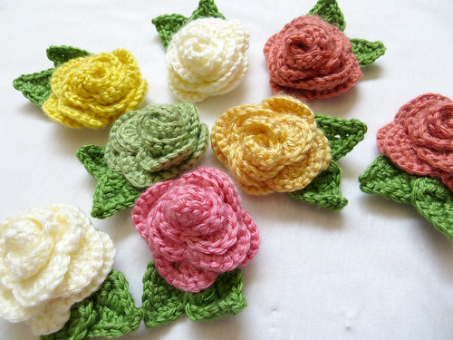 Crochet Rose Scattered