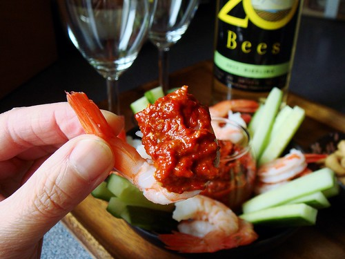 Shrimp Cocktail with Muhammara