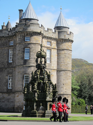 guards at the Palace of Holyroodhouse