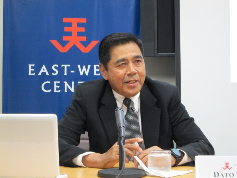 Malaysian politics and public policy blogger Dato Din Merican spoke gave an overview of the country's 2013 elections and the challenges facing the Malaysian government at a panel program at the East-West Center in Washington.