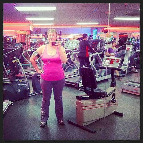 Gymming.