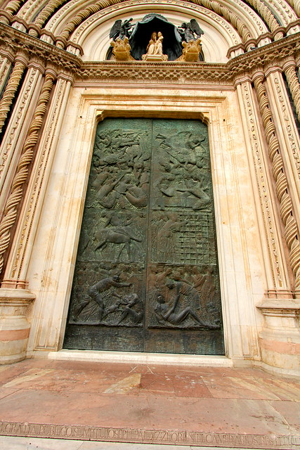 Door on Orvieto Cathedral