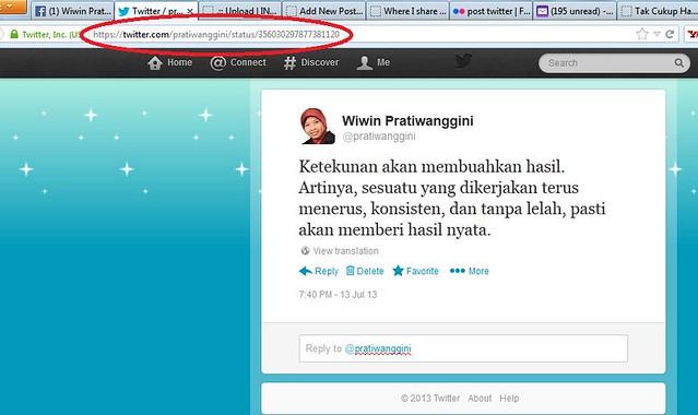 URL post twitter