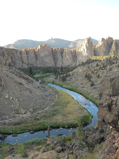Looking up the Crooked River