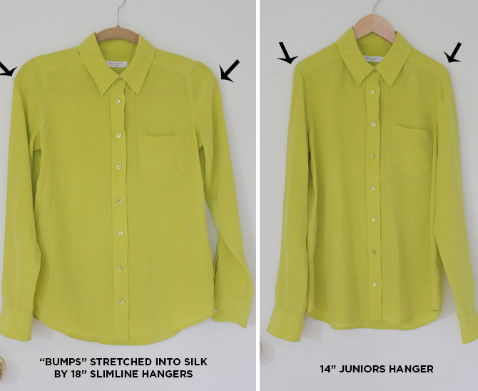 silk blouse before after