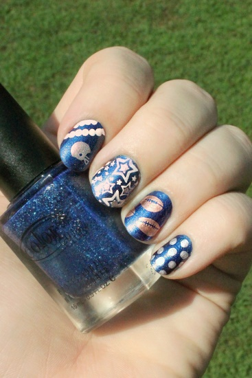 Berry College Football Nails