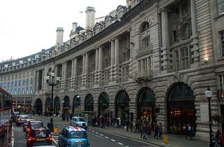Batiments le long de Regent's Street