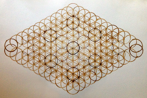 lozenge of life coffee art variation on sacred geometry