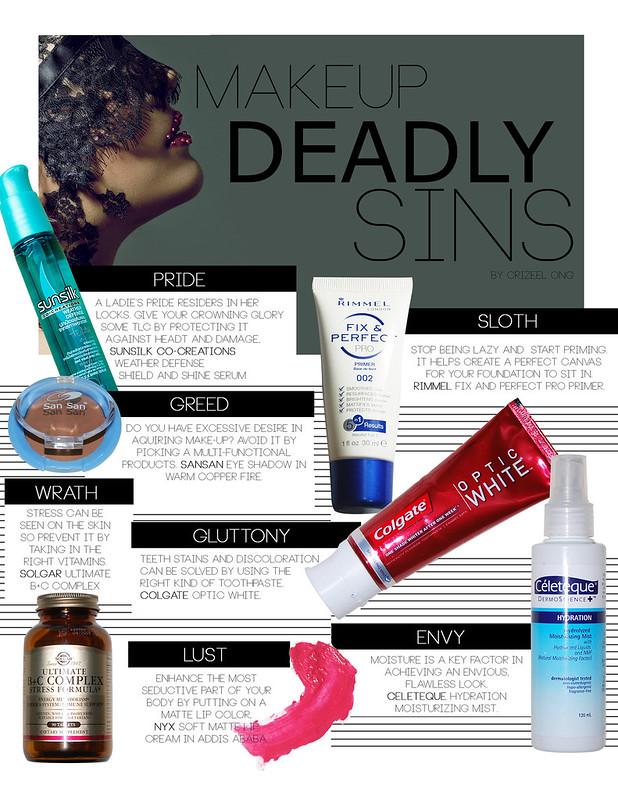 7 deadly sins; make up deadly sins, 7 deadly sins, makeup, cosmetics, beauty, zelanthropy