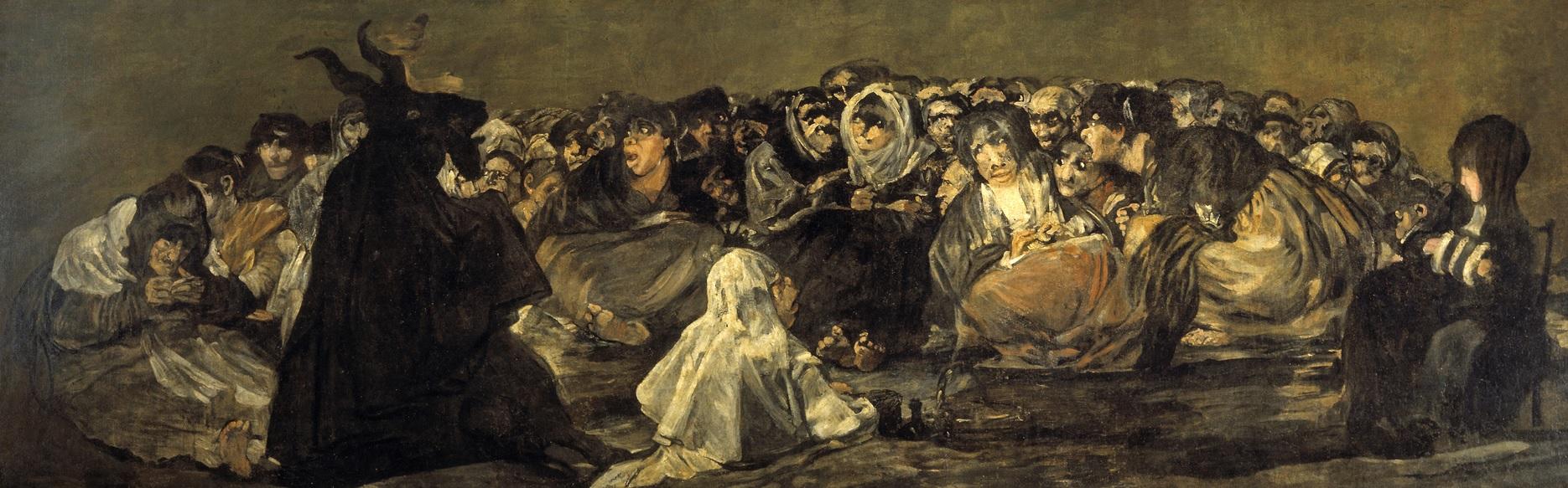 10. El Aquelarre. Obra de Francisco de Goya. 1821-1823
