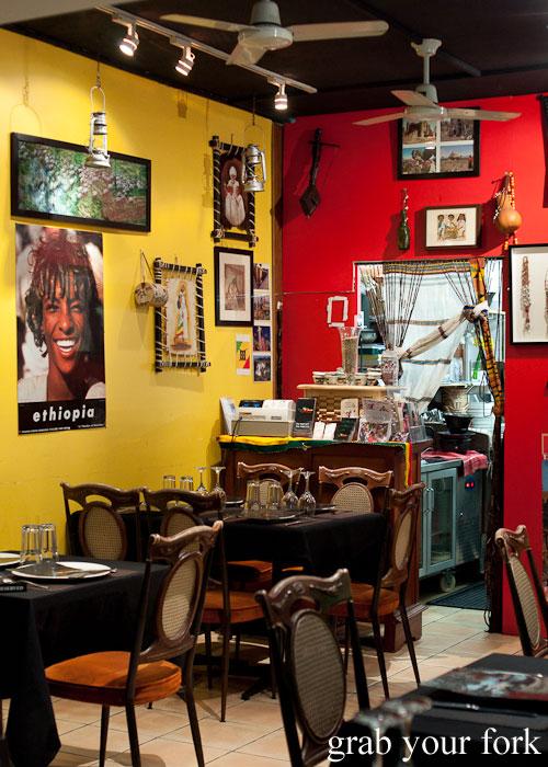 Dining room decor Jambo Jambo Ethiopian African Restaurant Crows Nest