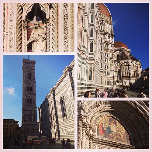 Cattedrale di Santa Maria del Flore, aka El Duomo. (I climbed that tower. There were lots of stairs.) #florence #italy #travel