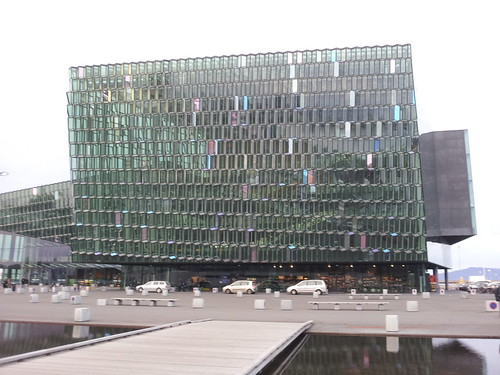 This is the Harpa concert hall in Reykjavik