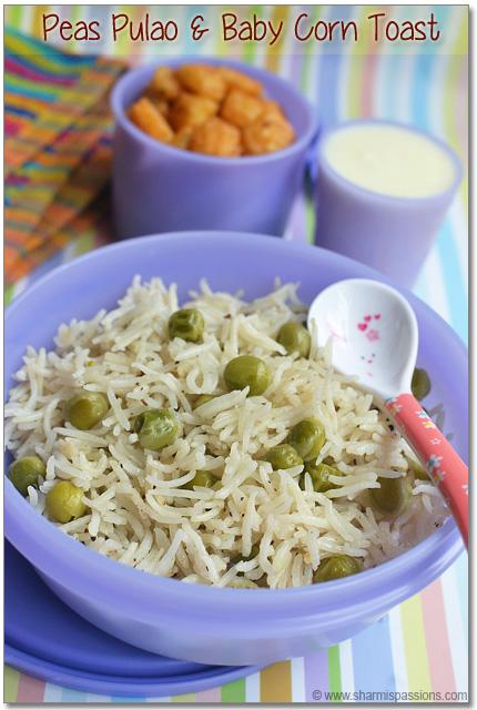 Peas Pulao & Baby Corn Toast