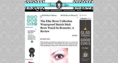 The Elke Brow Collection Waterproof Sketch Stick Brow Pencil In Brunette  A Review « Painted LadiesPainted Ladies