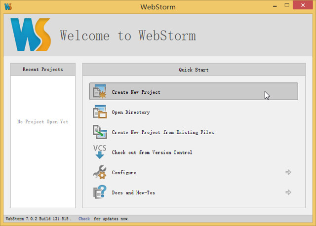 JetBrains WebStorm 7.0.2