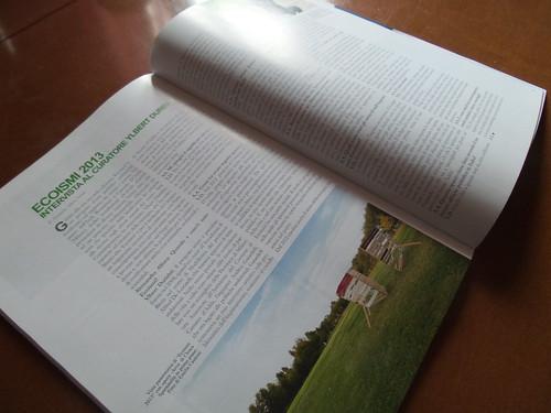 Le pagine 66/67 della rivista con intervista by Ylbert Durishti