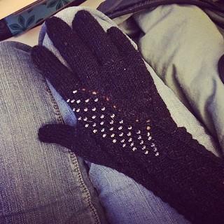 One glove.