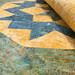 238_Navy Landscape Batik Gold Table Topper_m