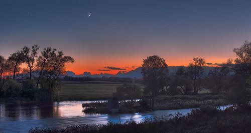 sunset panorama ontario canada landscape fallcolors gimp waterloo conestogo conestogoriver waterlooregion conestogariver microsoftice oloneo olympusomdem5 conestogariverproject