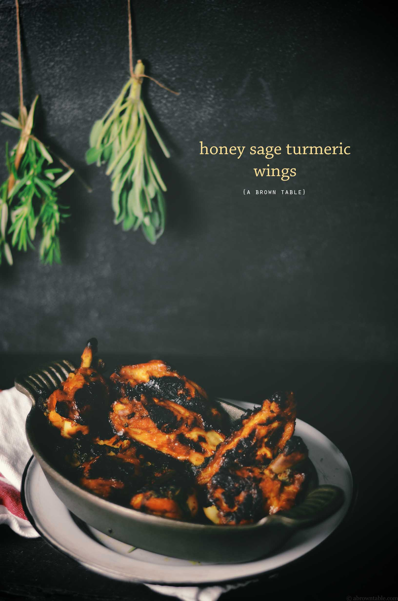 honey sage turmeric chicken wings
