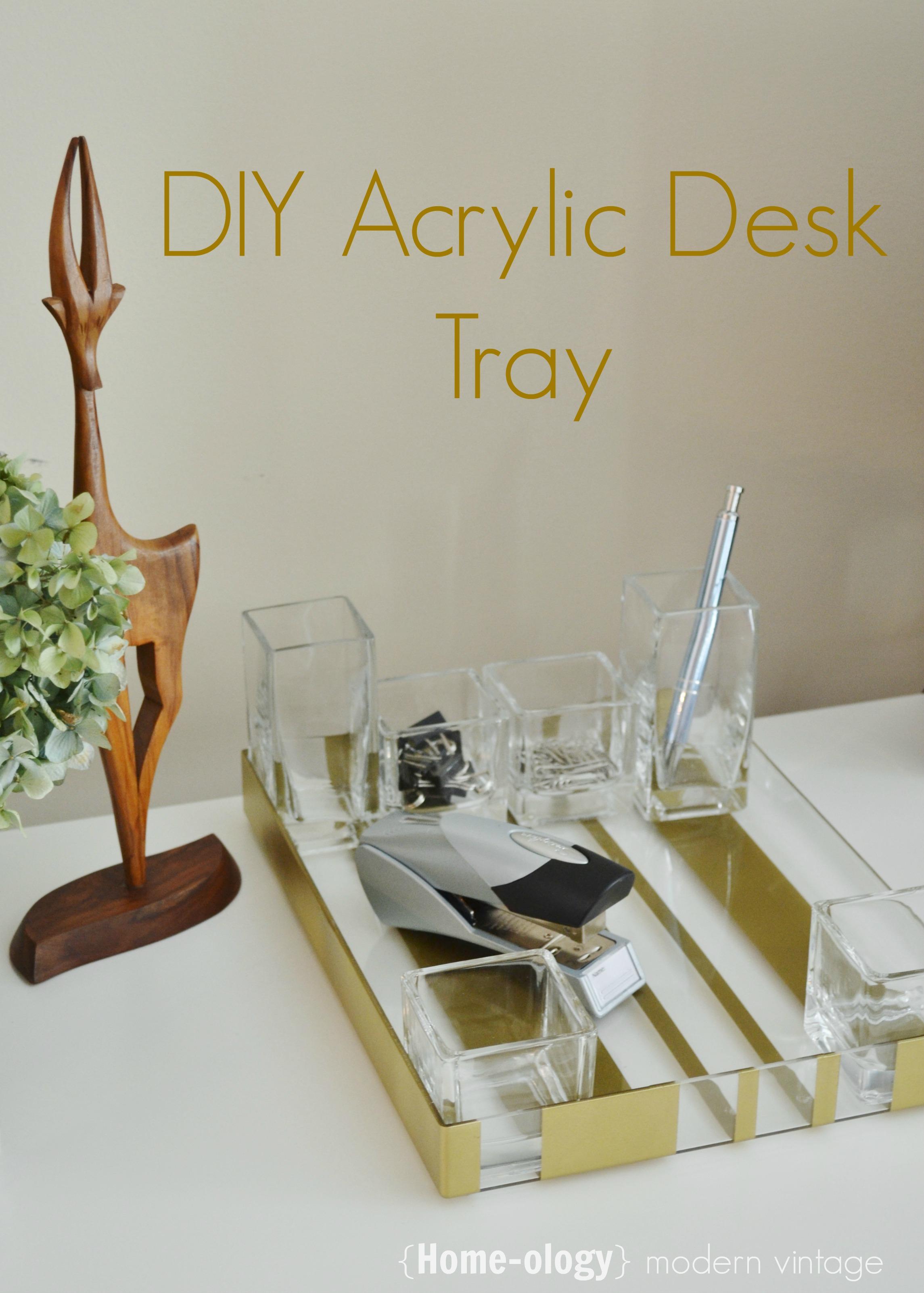 acrylic desk tray
