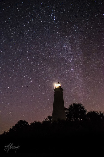 lighthouse night stars unitedstates florida nightsky february newmoon stmarks milkyway stmarksnationalwildliferefuge stmarkslighthouse