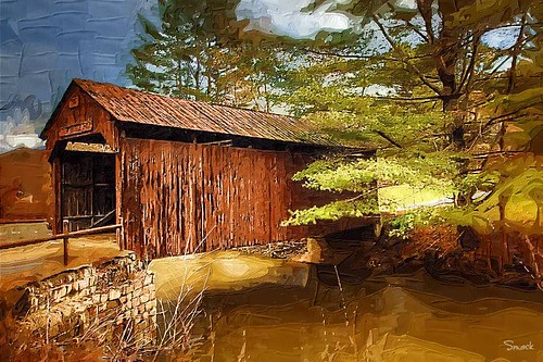 Old Covered Bridge in Ohio