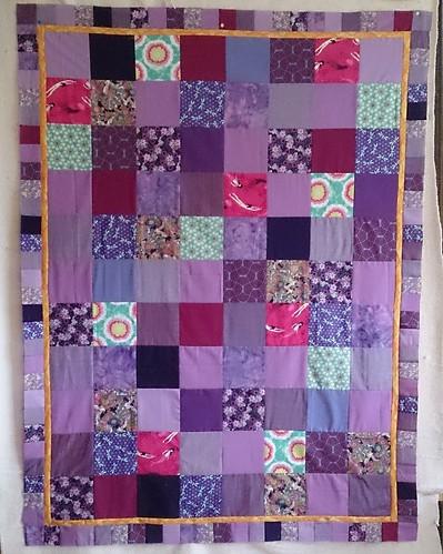 Darling Violetta - Pantone Quilt Challenge 2014