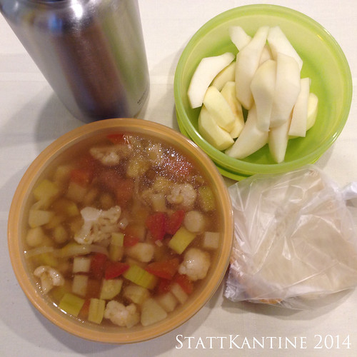 StattKantine 14.05.14 - Minestrone, Sandwichbrot, Birne