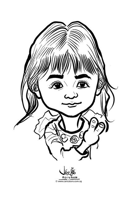 digital live caricature sketching for National Heart Centre Singapore -15