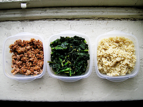 meat greens quinoa