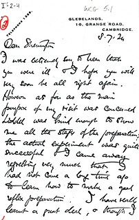 Adrian to Sherrington - 8 July 1924 (WCG 5.1a)