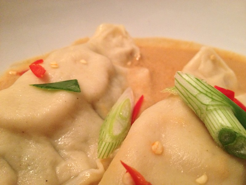 Crab and Scallop Ravioli : Close Up