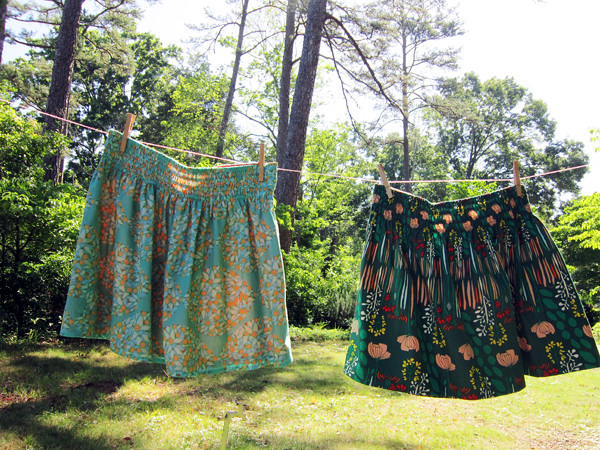 voile vs. quilting cotton skirts
