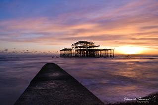 West Pier Series. Sunset Shimmer