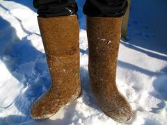 羊毛氈靴子,圖片作者:Victor Radziun,圖片來源:https://www.flickr.com/photos/radziun/404497868,本圖符合CC授權使用。