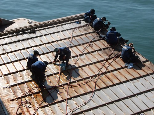 SASEBO, Japan - The crew of the dock landing ship USS Germantown (LSD 42) has been steadily eradicating corrosion throughout the ship with the assistance of the hard working Corrosion Control Assistance Team (CCAT).