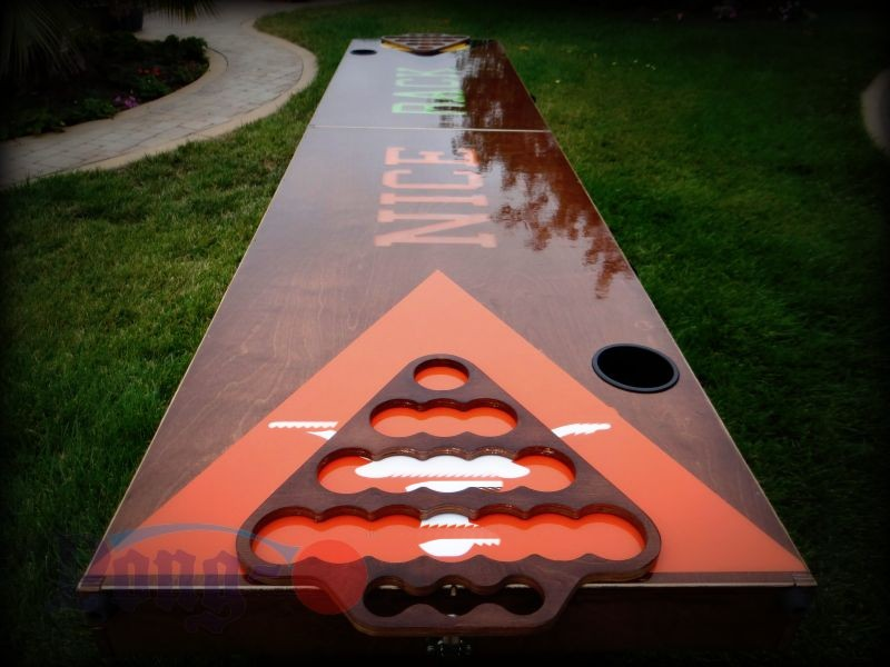 Beer pong table finishes