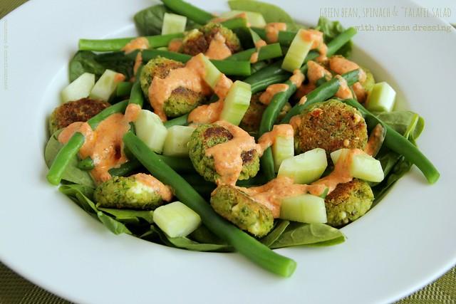 Green Bean, Spinach & Falafel Salad 2