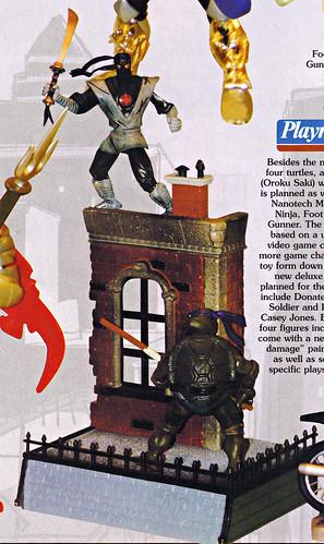 Tomart's Action Figure Digest #xx :: pg.21 SDCC '03 TMNT 2k3, Wave 2 peek / .. unproduced DLX 'Donatello v. Foot Soldier' boxed set (( xx 2003 ))